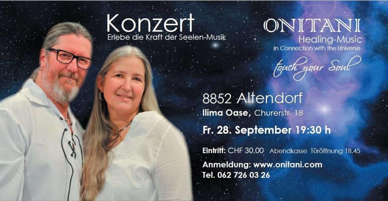 KONZERT von ONITANI Healing-Music mit bewegender Begleitung  28.September 2018