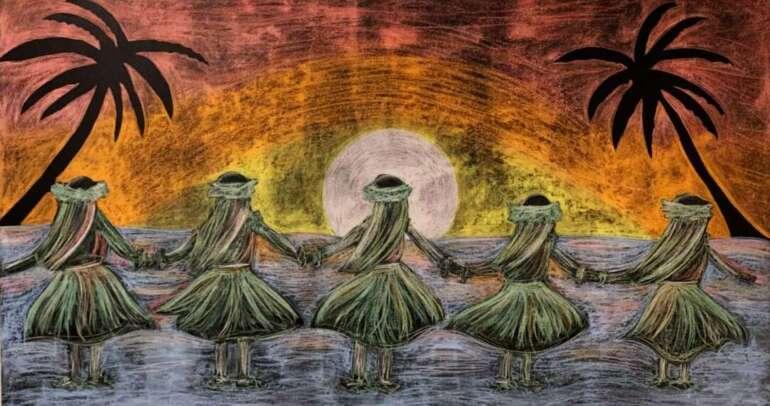 Hawaiianischer Tanz in der Ilima Oase